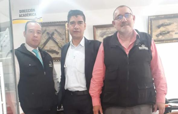 Visita a las instalaciones Principales de Ceforvig Ltda por parte del señor William Guzmán presidente de Asoguardas