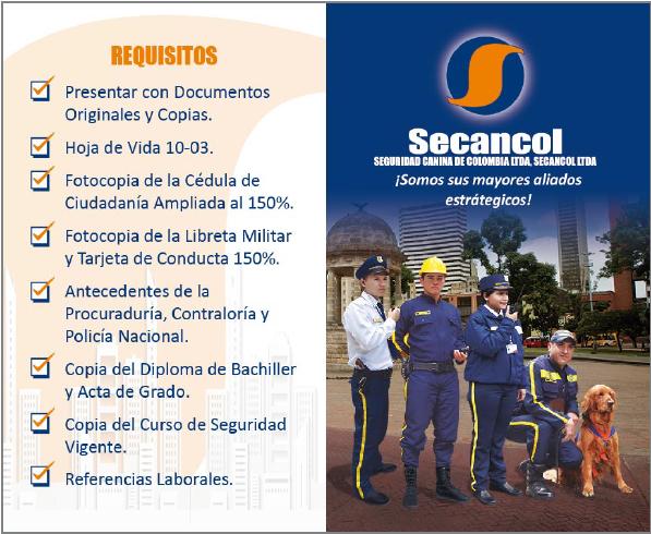 SECANCOL REQUIERE PERSONAL DE SEGURIDAD
