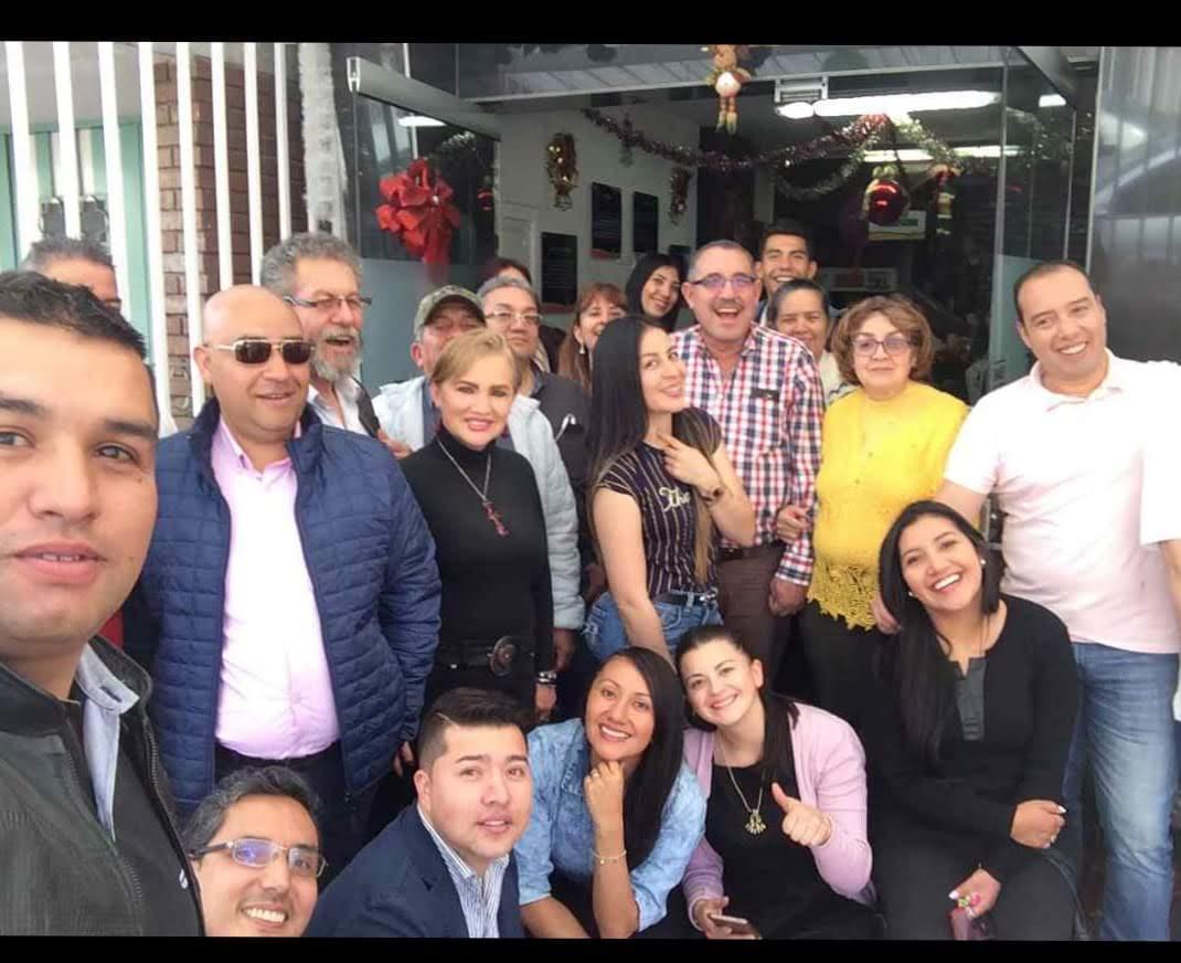 Reunión de despedida del año en la Principal de Ceforvig Ltda con personal Administrativo e Instructores