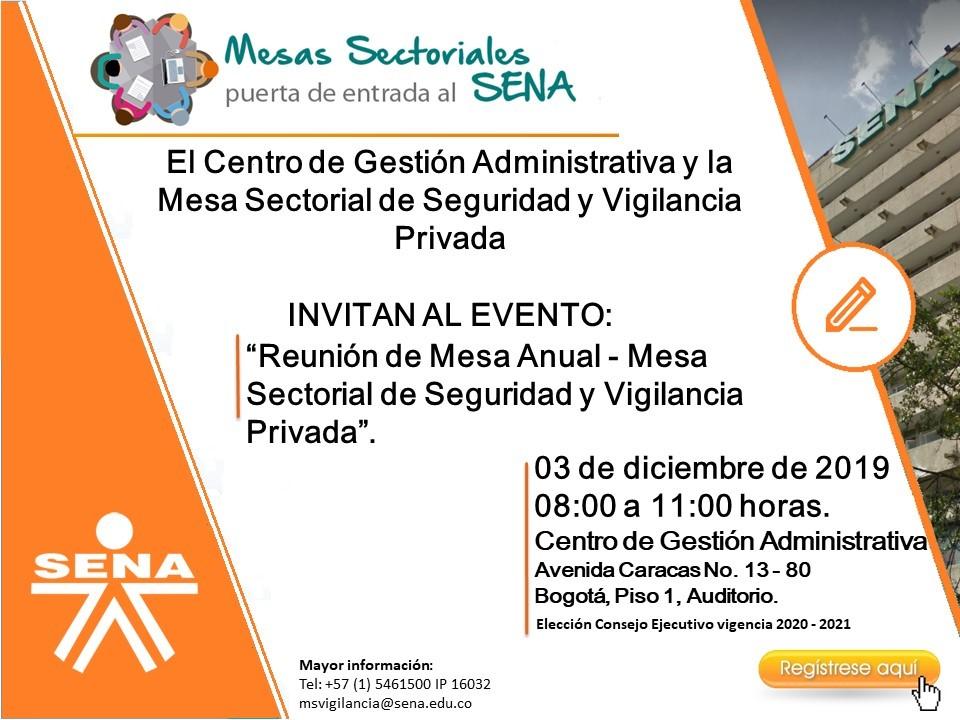 MESA SECTORIAL DE SEGURIDAD Y VIGILANCIA PRIVADA