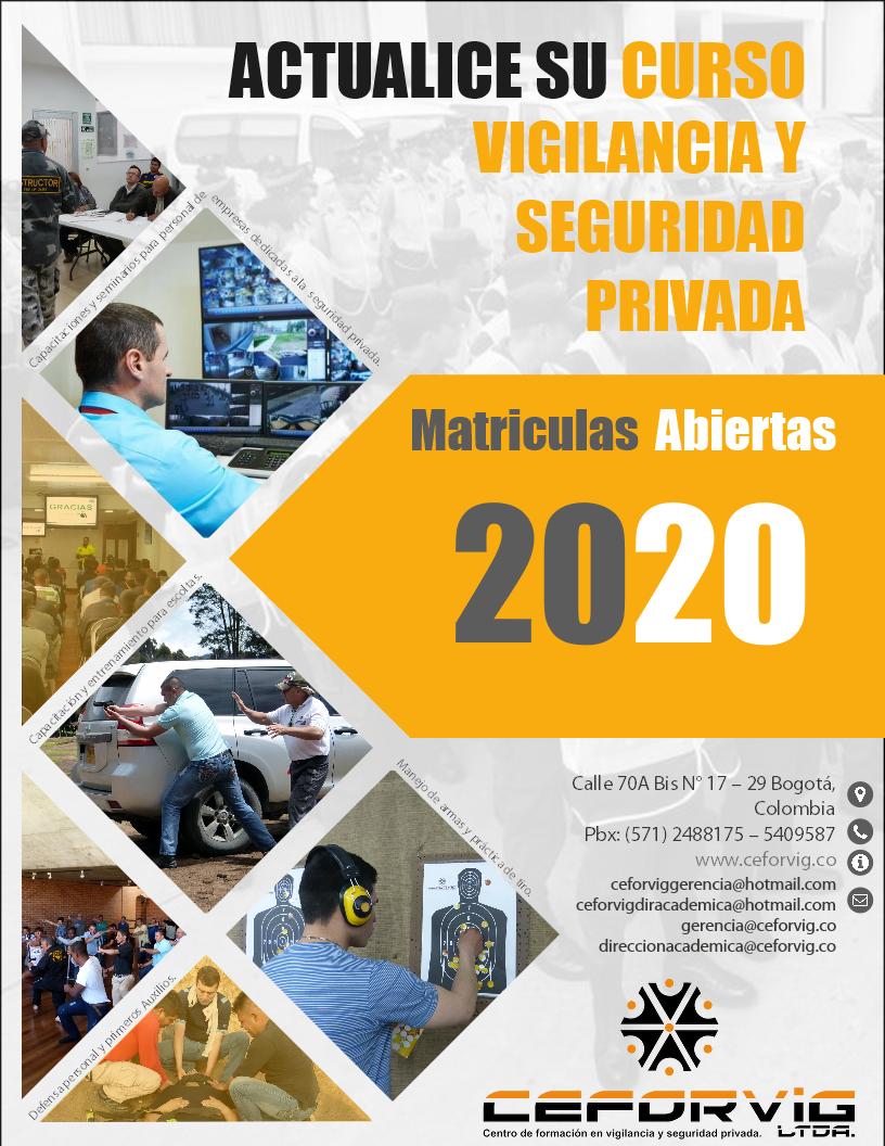 ACTUALICE SU CURSO DE VIGILANCIA Y SEGURIDAD PRIVADA – 20 20