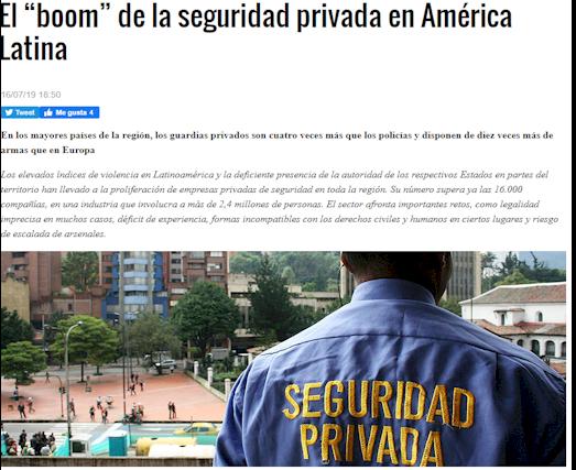 EL BOOM DE LA SEGURIDAD PRIVADA EN AMÉRICA LATINA