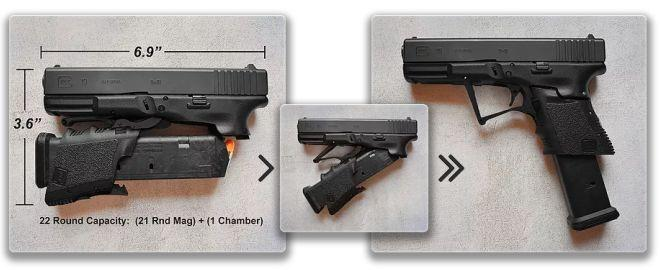 PISTOLA DE 9 MM M3 PLEGABLE GLOCK 19