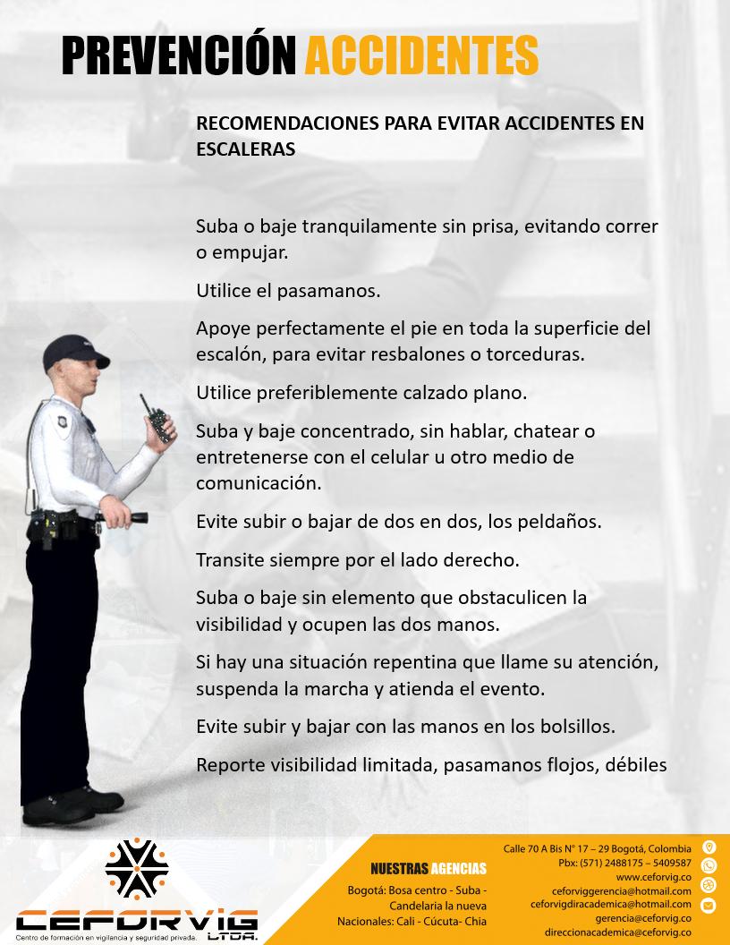 PREVENCIÓN DE ACCIDENTES EN LAS ESCALERAS