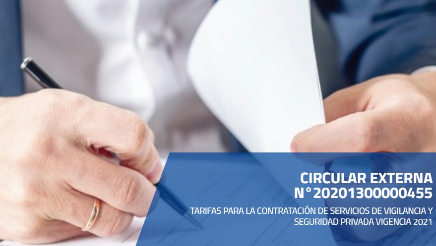 TARIFAS 2021 PARA EMPRESAS Y COOPERATIVAS – SUPERVIGILANCIA