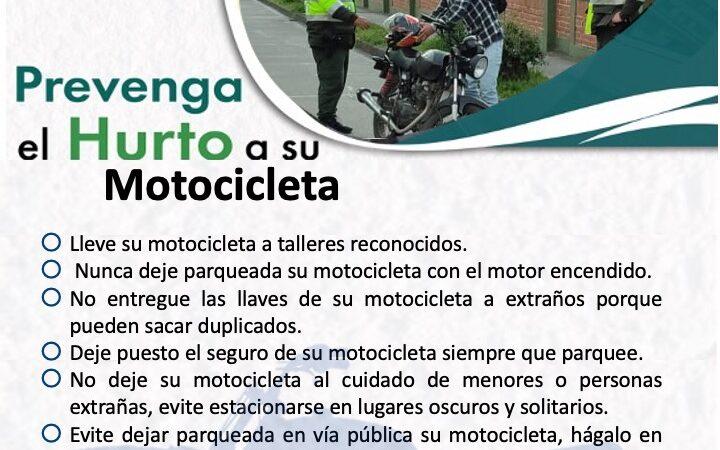 PREVENCION HURTO DE MOTOCICLETA