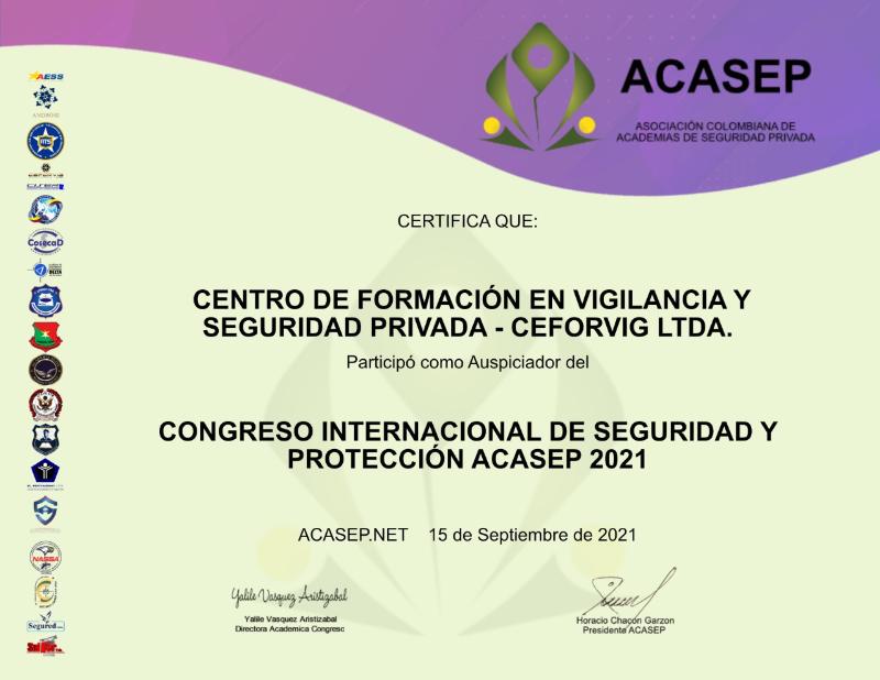 CEFORVIG AUSPICIADOR DEL CONGRESO INTERNACIONAL DE SEGURIDAD Y PROTECCION