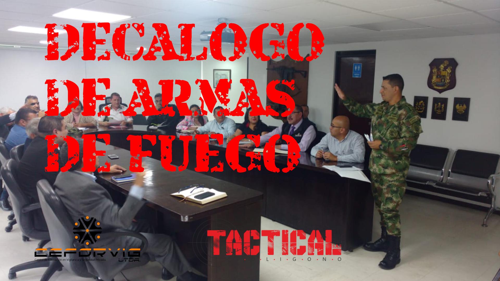 DECALOGO DE ARMAS DE FUEGO Y LETALIDAD REDUCIDA